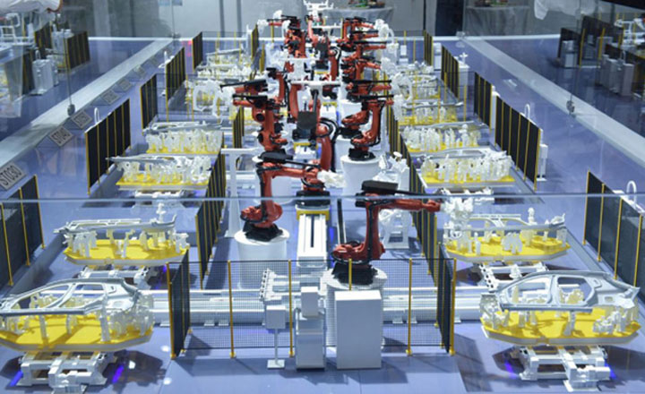 Han's Laser's first welding production line